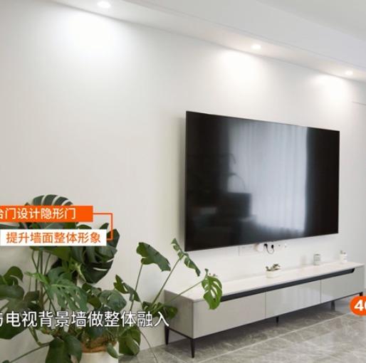 178m²陈旧欧式老房变身现代简约新空间,简单而奢华的都市风情(电视墙)
